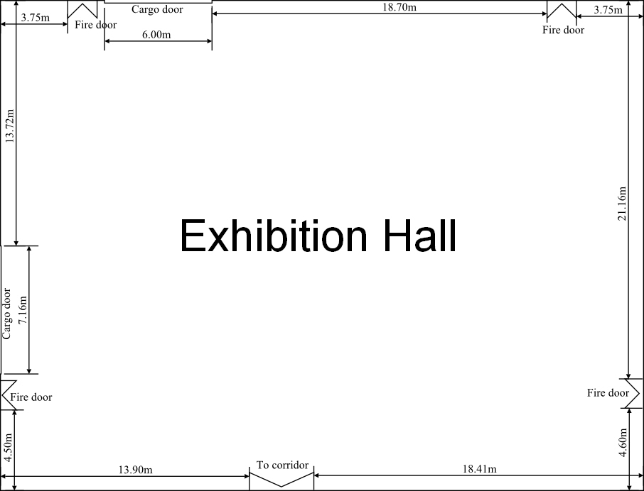 Large Exhibition Hall dimensions