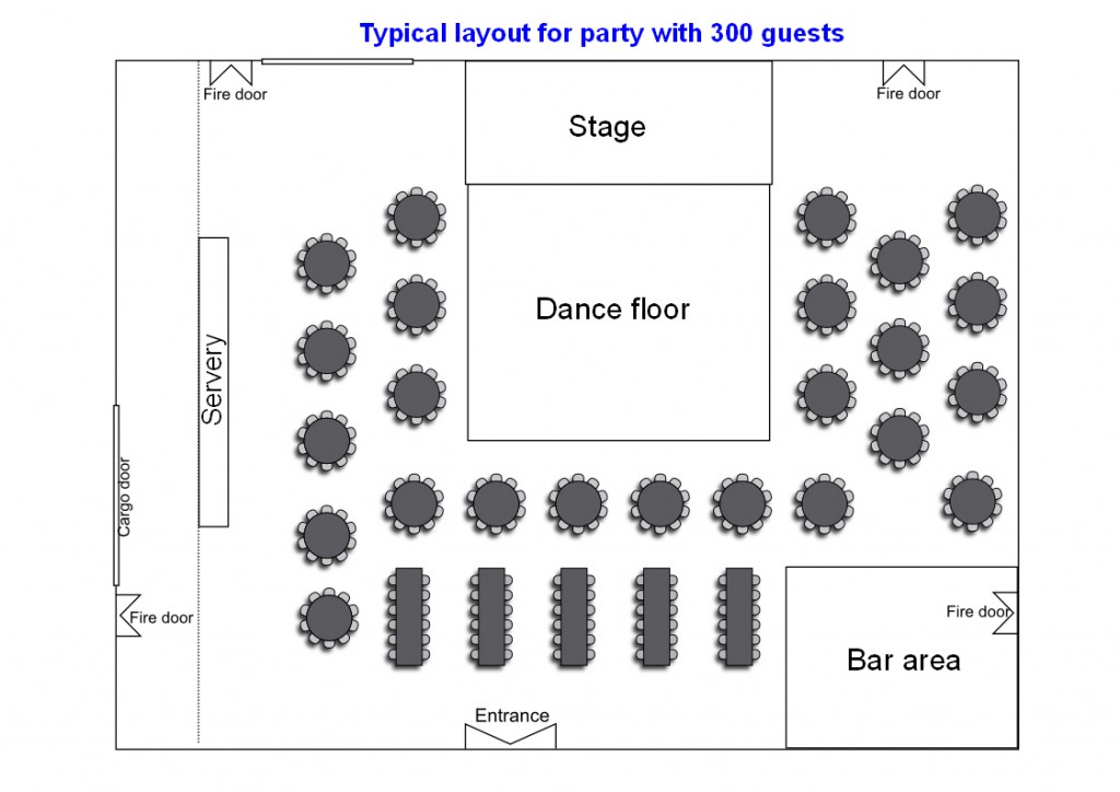 Main Hall party layout