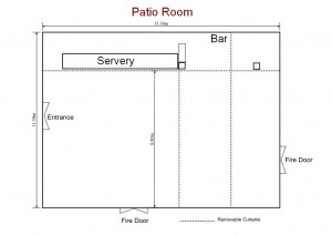 Patio Room dimensions