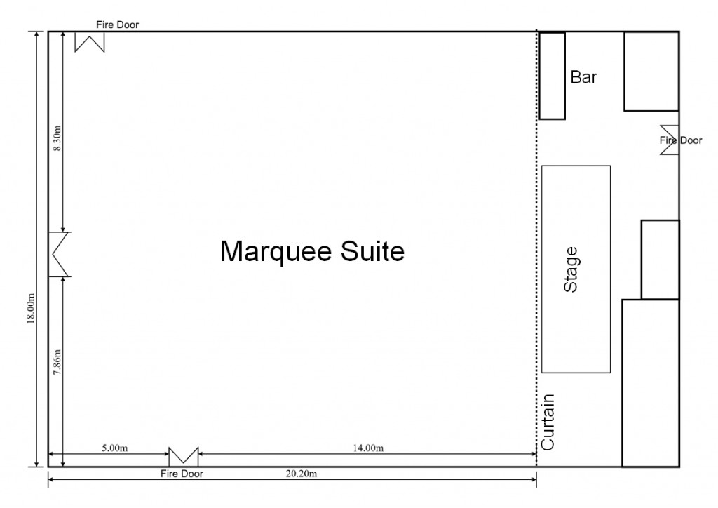 Marquee Suite dimensions